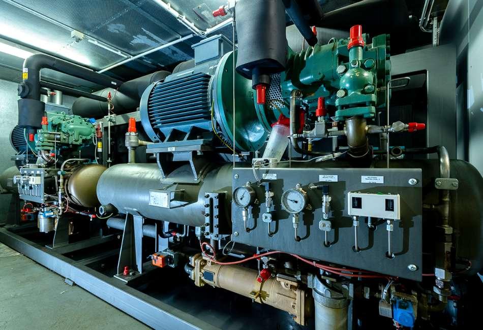 Kälteanlage mit Ammoniak, Kühlung  für Gewächshäuser, autom